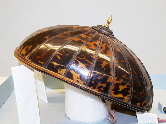 Tortoise shell hat  (Photo by Dr. Almira Astudillo Gilles)