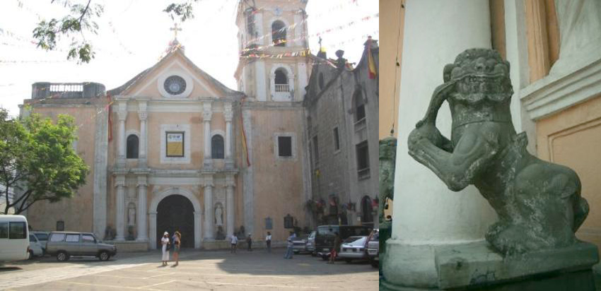 San Agustin Church and its foo dogs (Source: tripadvisor.com)
