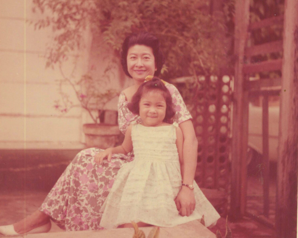 Lulu Reyes Besa and daughter, Elizabeth Ann Besa-Quirino, author (Photo courtesy of the Lulu Reyes Besa family)