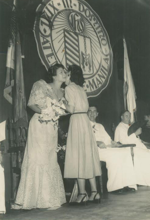Lulu Reyes Besa was awarded Ateneo's Ozanam Award in 1953 for her work as president of the Chaplains' Aid Association, heading the Crusades for Charity who brought medicines to POWs in World War II concentration camps. (Photo courtesy of the Lulu Reyes Besa family)