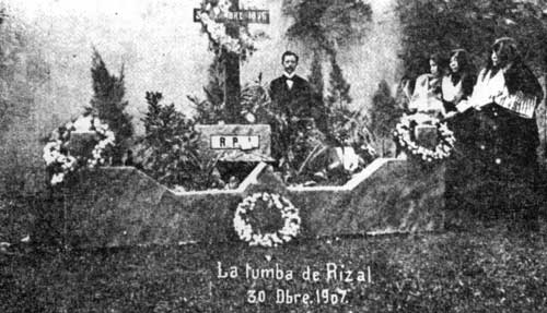 Rizal's tomb, December 30, 1907 (Source: joserizal.ph)