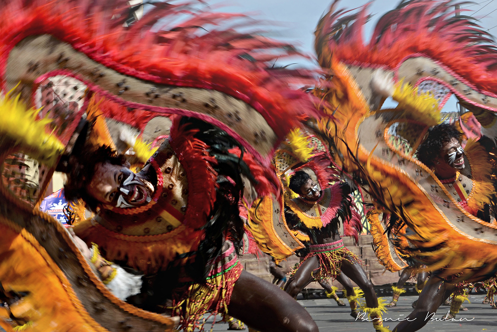 """Warriors in Motion, Dinagyang Festival"" (Photo by Bernard Bulan)"