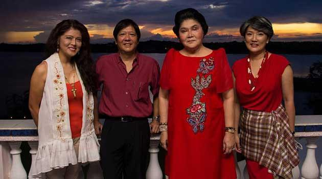 """Governor Imee Marcos, her brother Senator Ferdinand """"Bongbong"""" Marcos, Jr., mother Rep. Imelda Marcos, and sister Irene Marcos-Araneta. (Source:http://www.icij.org/)"""