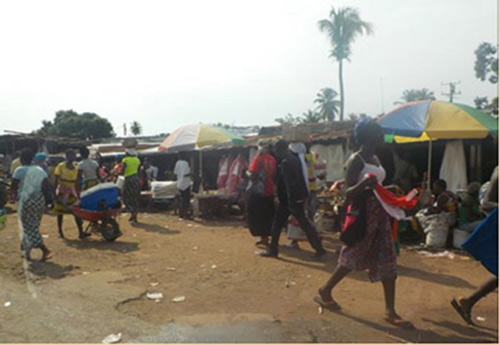 Street market in downtown Monrovia (Photo by Dr. Jorge Emmanuel)