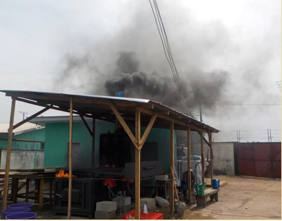Toxic by-products from incinerators affected homes in nearby communities (Photo by Dr. Jorge Emmanuel)