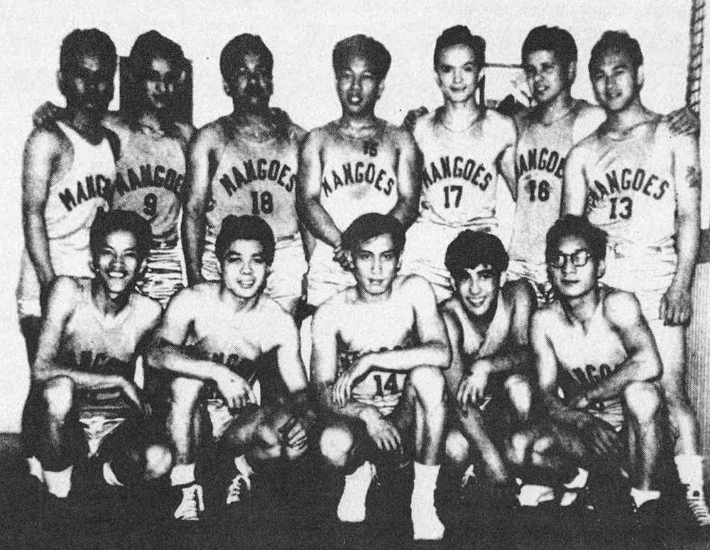 The Filipino Mango Athletic Club of San Francisco basketball team.  Organized in 1939, the Mangos were the first Filipino American Youth Club and spawned many other clubs in California. Not only did youth clubs provide for inter-community competition in basketball, softball, and volleyball for athletes and their fans; but the tournament dances that followed the games also provided healthy social outlets for all Filipino American young people. (Photo courtesy of Peter Jamero)
