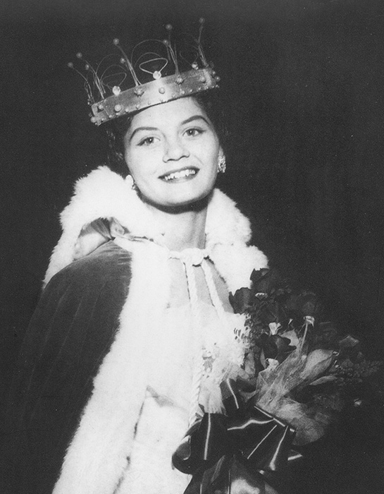 Carlene Sobrino Bonnivier, Homecoming Queen. Fall, 1956, when she was 16. (Photo courtesy of Carlene Sobrino Bonnivier).