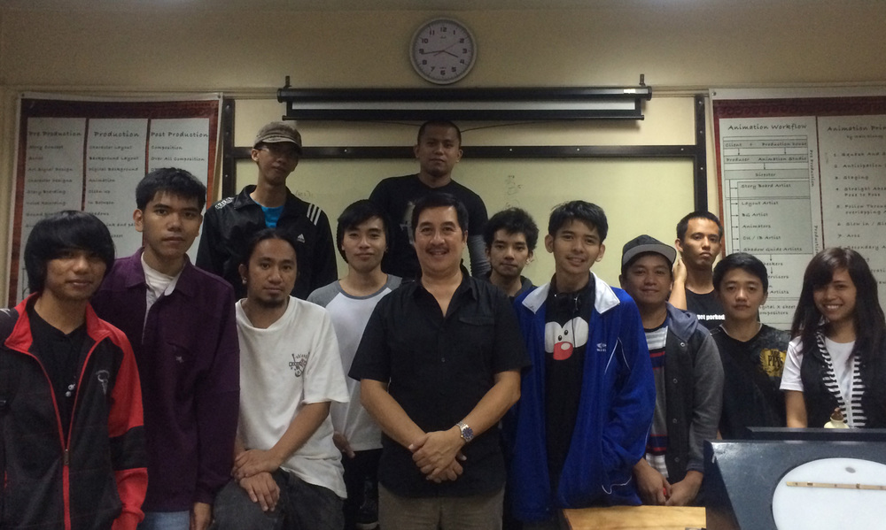 Boncan and his students at the Cordillera School of Digital Arts (Photo courtesy of Raul Boncan, Jr.)