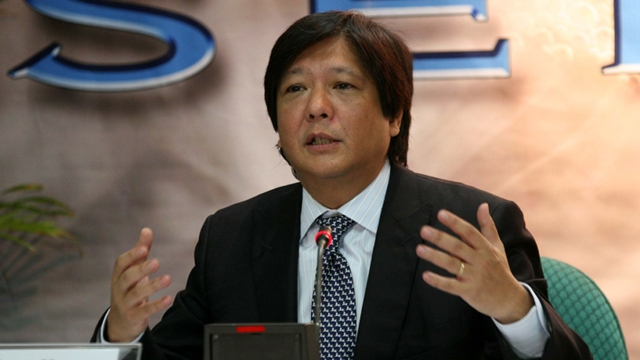 "Sen. Ferdinand ""Bongbong"" Marcos, Jr. (Source: rappler.com)"