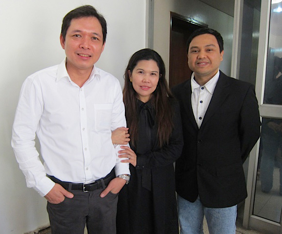 Left to right: Second Secretary and Consul Fernando V. Beup, ASEAN and Cultural Officer Jeanette B. Ramos and Protocol Officer Acmali L. Salic (Photo by Mona Lisa Yuchengco)