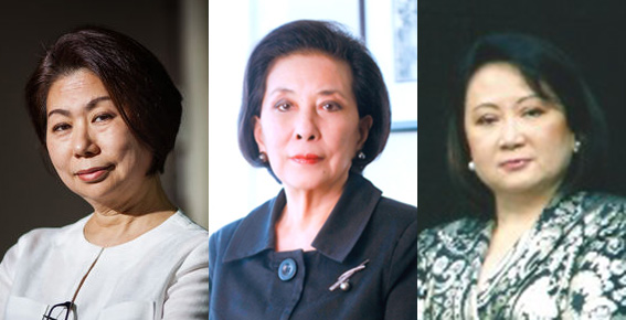 Teresita Sy-Coson (Source: bloomberg.com), Helen Yuchengco-Dee (Source: ygc.com), and Zenaida Rustia-Tantoco (Source: forbes.com)