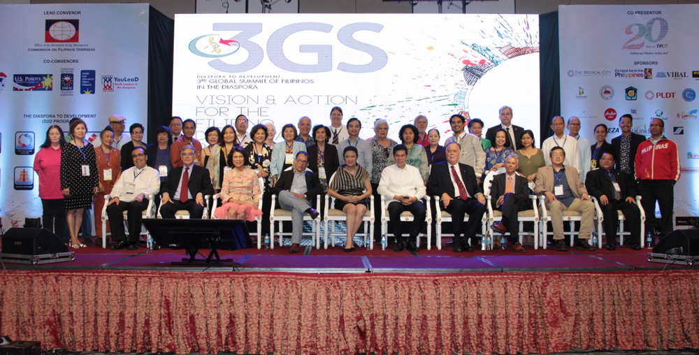 Delegates of the 3rd Global Summit, diplomats and Commission on Filipinos Overseas executives (Photo courtesy of the Commission on Filipinos Overseas)