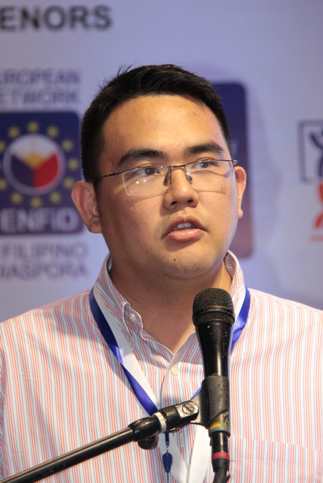 Earl Valencia of Ideaspace. Inc. (Photo courtesy of the Commission on Filipinos Overseas)