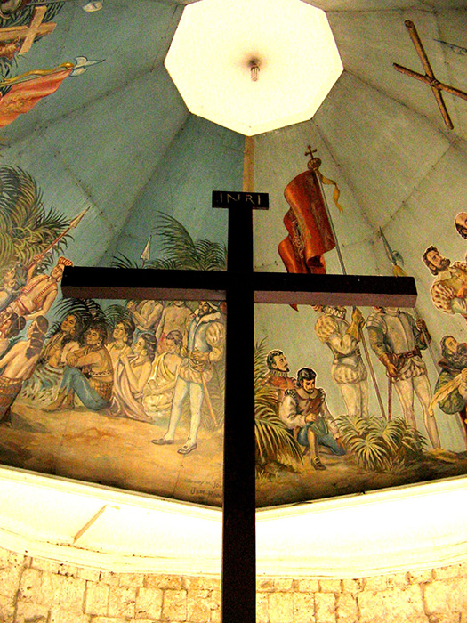 Magellan's Cross when he landed in Cebu (Source: Wikipedia)