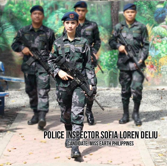 Police Inspector Sofia Loren Deliu (Source: Philippine Defense Forces Forum facebook page)