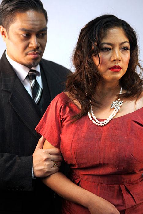 Esperanza Catubig as Hedda Tesman and Ro Ambrosio Birco as Judge Brack ( Photography by Egan and Rio Gache Hernandez   )