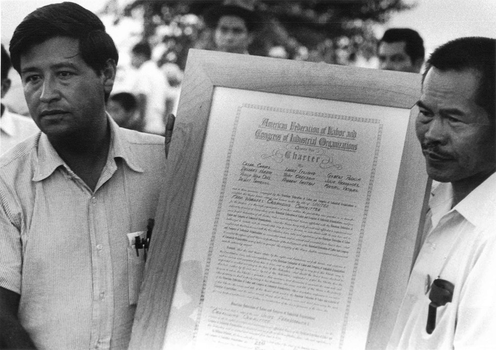 Cesar Chavez and Larry Itliong (Source: NYTimes.com/leroychatfield.us)