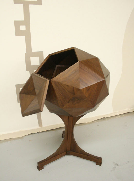 A geometric bar made of walnut (Photo by Maria Apelo Cruz  Jonavonic )