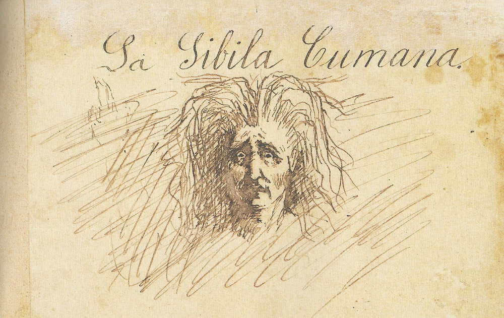 A Sybil (Illustration by Jose RIzal/ Scanned from   Jose Rizal's   Haec Est Sibylla Cumana   )