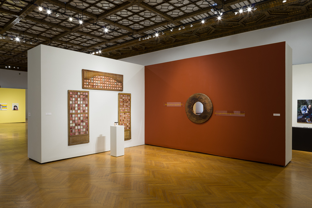Installation view at (un)common thread exhibition, Mills Museum (Photo by © Phil Bond)