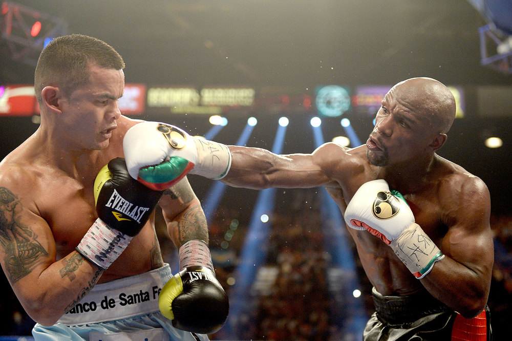 Argentine Marcos Maidana vs. Mayweather (Source: Getty Images)