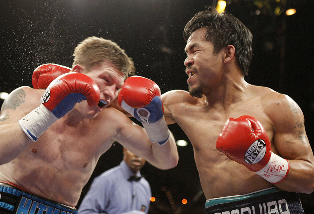 Ricky Hatton of Britain vs. Pacquiao (Source: HBO Sports)