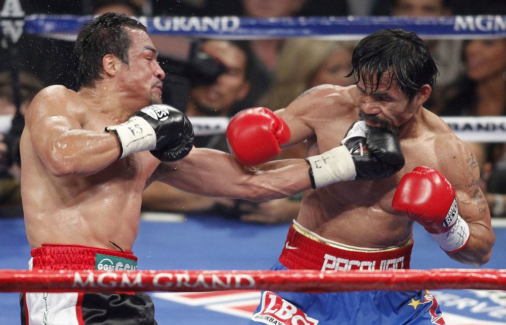 Mexican Juan Manuel Marquez vs. Pacquiao (Source: AP)