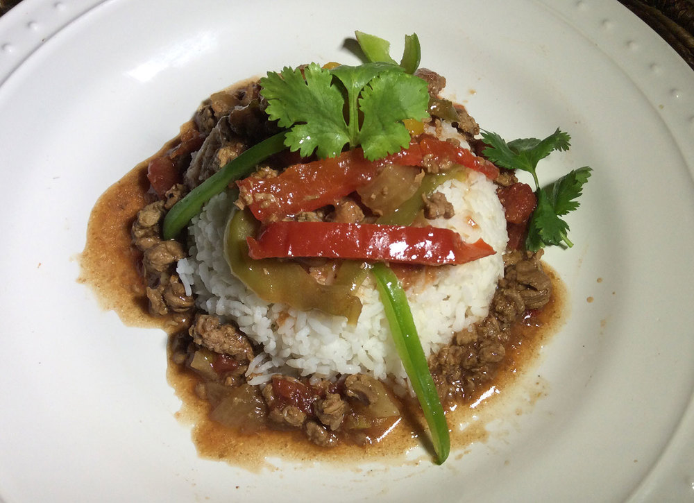 Sirloin Pepper Steak Over Rice (Photo from My Bay Kitchen)