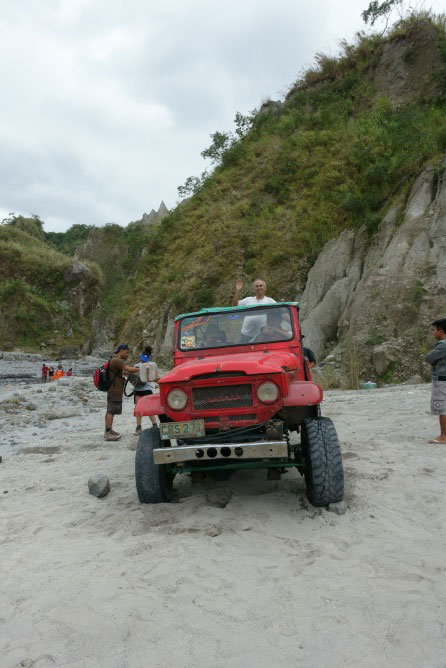 On a Toyota Land Cruiser (Photo by Sonny Siasoco)