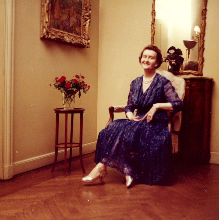 Self-portrait of Huguette Clark, taken from an early Polaroid camera, at her New York apartment, from the 1950s. (Source: Huguette Clark estate and  www.emptymansionsbook.com )