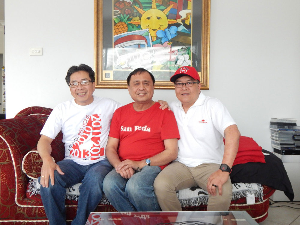 Dodo Pulido, Rey E. de la Cruz, and Nestor Ramos. (Photo by Rosmel Ramos)