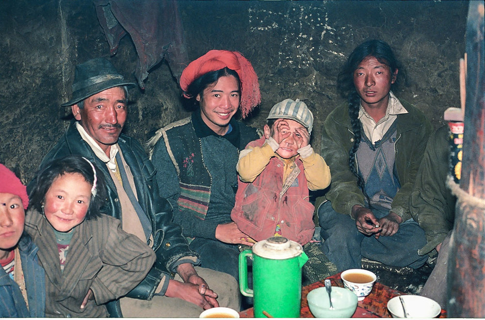 Though he no longer remembers where they live high up in the Himalayas, Louie had some very good memories with this Tibetan family. He even blends in well with them. (Photo courtesy of Louie Hechanova)