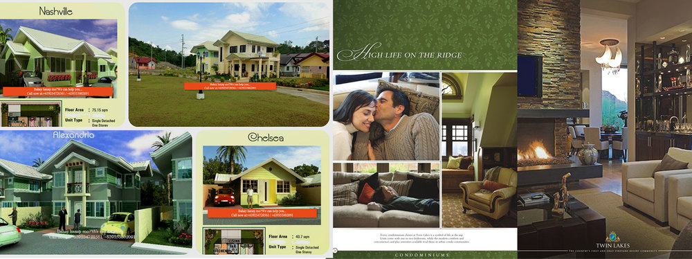 Brochures for retirement villages in Cebu (Left, Source: cebubestresidencesforale.blogspot.com) and Tagaytay (Source: homes.mitula.ph)