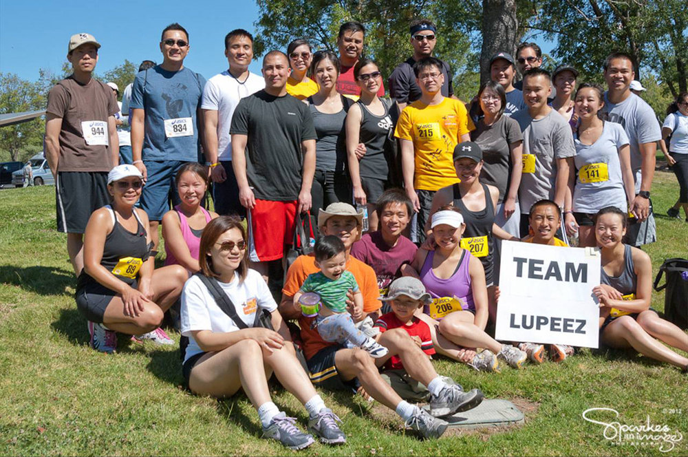 One of the many teams that participate in the Annual 5K Run and Walk for Lupus in Saratoga to create greater public awareness about lupus and to raise funds for client programs and services. (Photo courtesy of the Lupus Foundation of Northern California)