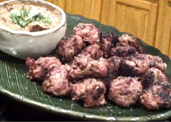 Longanisa Meatballs with Peanut Dipping Sauce (Photo courtesy of Ramar Foods International)