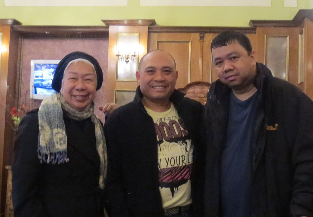 (Left to right) Bella Bonner, Ferds Dayao and Bong Magbojos (Photo by Bert Cayabyab)