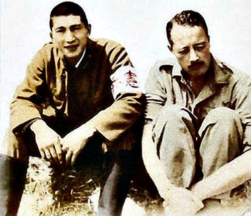 Lt. Norman Reyes and Major Charles Cousens, prisoners of war