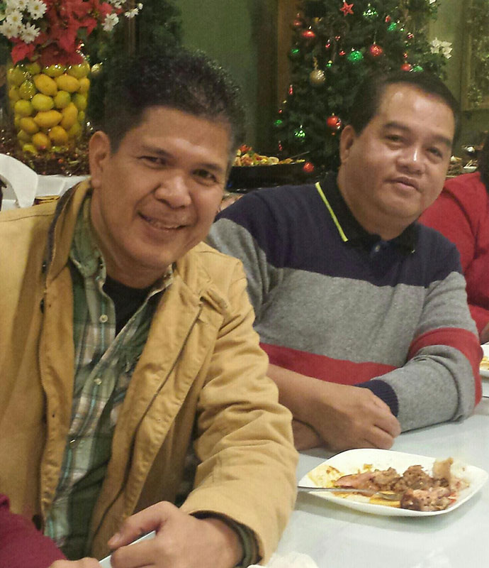 Cesar Briones and Rico Dumigpi were with Patio Filipino when it opened 10 years ago. They're still there. (Photo courtesy of Patio Filipino)