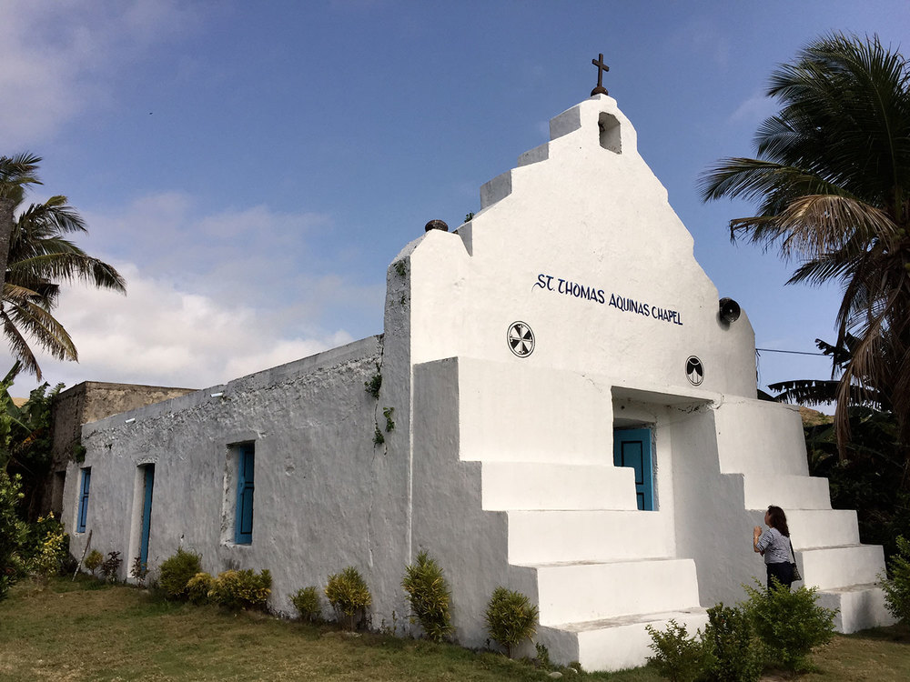 Stone walled and cogon-roofed Chavayan chapel (Photo by Omar Paz)