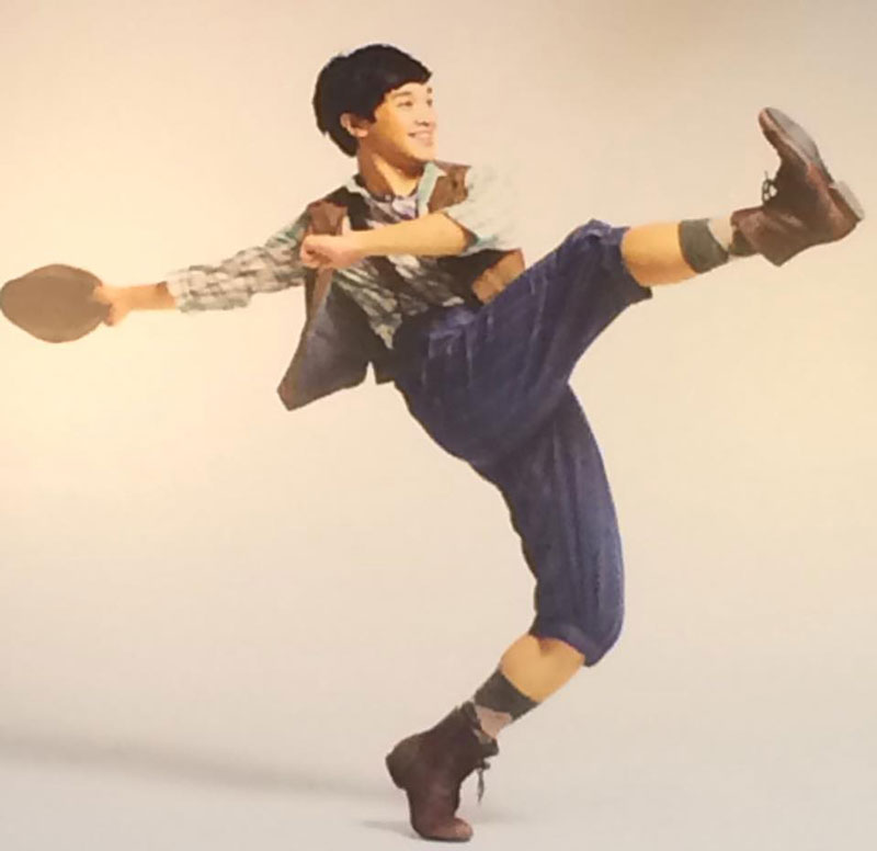 "Julian DeGuzman as Finch in Disney musical ""Newsies.""  (Source: Disney Theatrical Productions)"