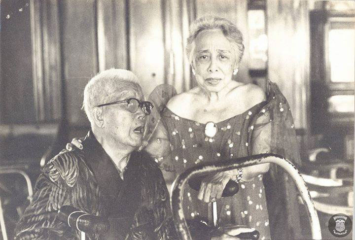 Maria Agoncillo Aguinaldo with General Emilio Aguinaldo (Photo from Facebook's 'Malacanan Palace' page)