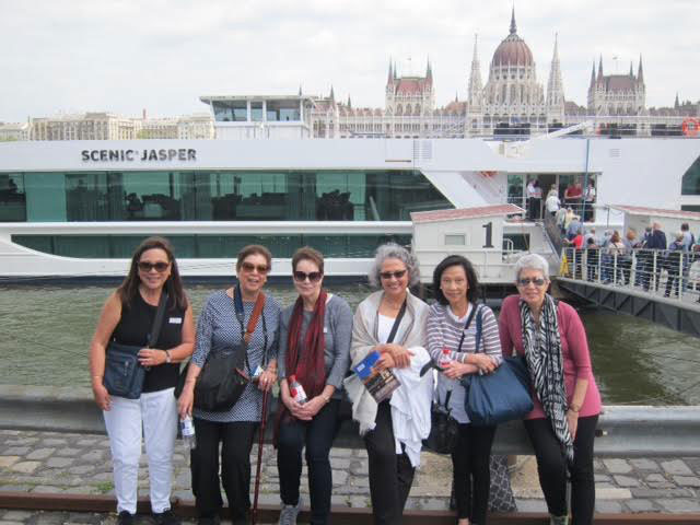 My traveling companions: from right, Isa Lovina, Bella Yuchengco, Marge Llamas, Adele Olives and Charito Nanagas. The Parliament of Hungary is in the background. (Photo by Mona Lisa Yuchengco)