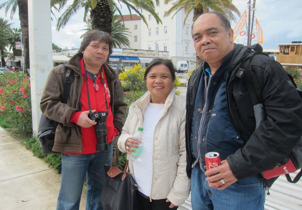 Al Manuel Fabon, Evelyn and Mario Berena (Photo by Mona Lisa Yuchengco)