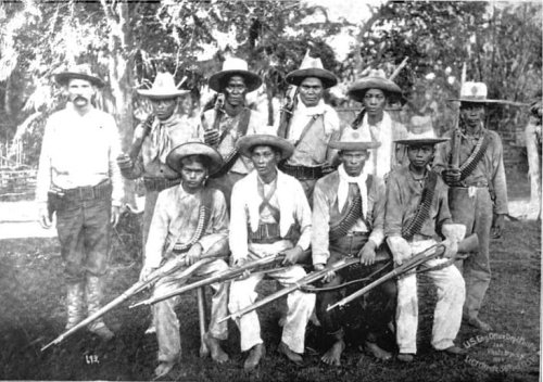The Macabebe Scouts, who allied themselves with the United States versus Emilio Aguinaldo's forces during the Philippine American War (Source: philippineamericanwar.webs.com)