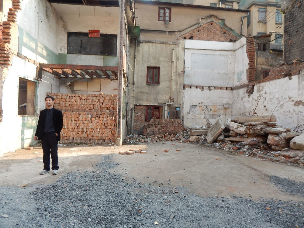 I met Carl, a housing activist in Shanghai. His old neighborhood is being torn down for gentrification. (Photo courtesy of Ivan Kevin Castro)
