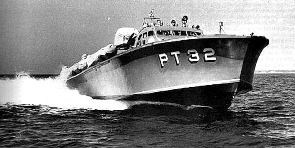 A US Navy torpedo boat similar to one that guided submarine Trout through the minefields of Corregidor. In the Pacific War, a future US President, Lt. John F. Kennedy served in one of these fast boats.