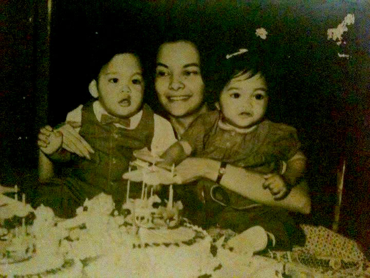 Singer celebrity Martin Nievera's (left) first birthday cake was by Gloria Nichols of The Rolling Pin Bakeshop. (Photo provided by Maridel Menguito Anama from the Gloria Nichols' family albums)