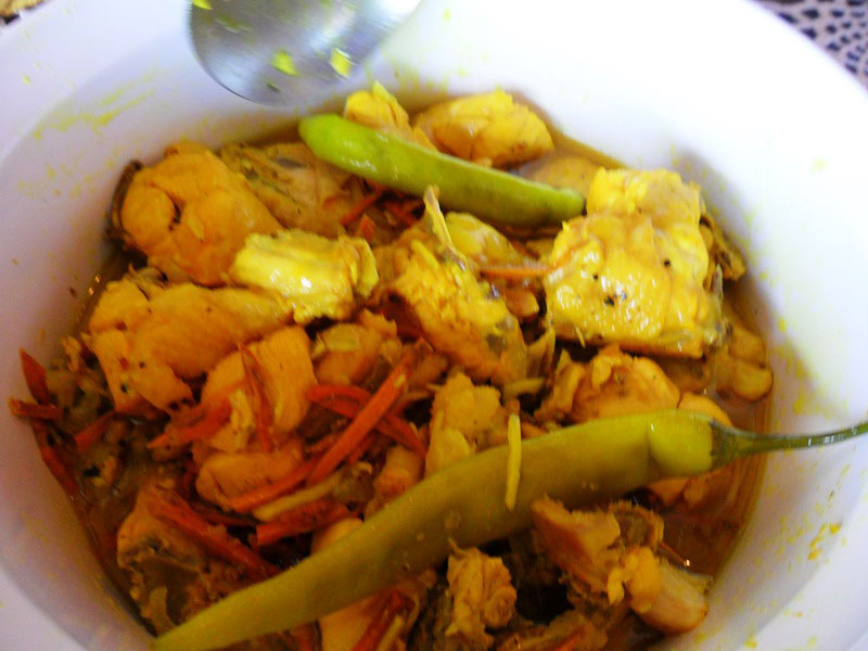 Adobo sa Dilaw  uses turmeric for coloring (Photo by Micky Fenix).