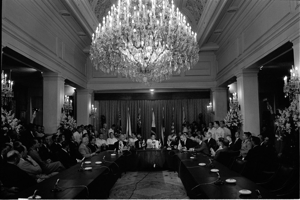 "The chandelier at the Great Hall of Malacañang in Manila, which was secretly loaned to Fr. Reuter's production of ""My Fair Lady"" for Assumption in 1965; and returned. Imagine if ""Phantom of the Opera"" had already been available for stage back then--what a spectacular crash it would've made!"
