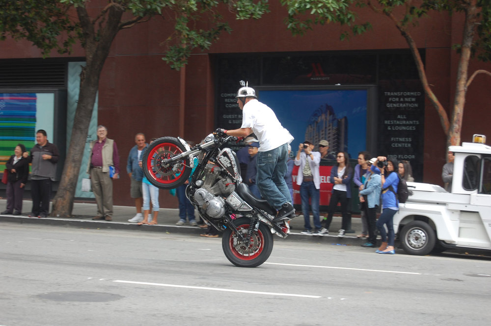 Motorcycle stunt rider Jason Pullen (Photo by Raymond Virata)